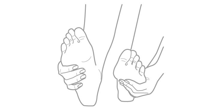 足のチェック